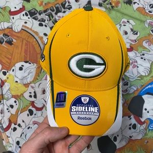 Reebok fitted green bay packers hat XLV
